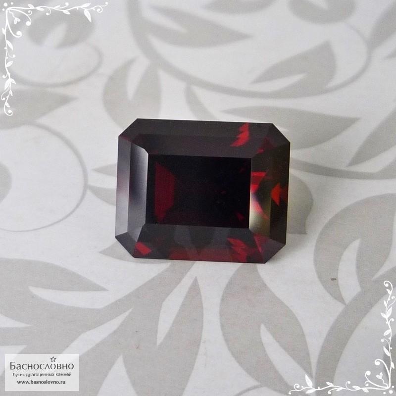 Тёмно-красный гранат (пироп-альмандин) из Мозамбика отличной огранки Баснословно октагон 9,78x7,98мм 4,68 карат (Драгоценный камень)