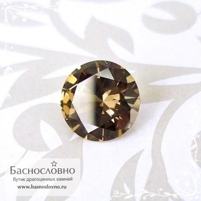 Бежевый гранат с александритовым эффектом из Танзании отличная огранка Баснословно бриллиантовая Кр57 круг 6,3мм 1.02 карата (Драгоценный камень)