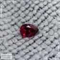 Красная шпинель (лал) из Мьянмы (экс-Бирма) хорошей огранки груша 6,11x4,4мм 0,5 карата