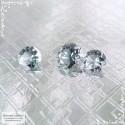 Гарнитур три серых шпинели из Танзании (Махенге) отличной огранки Баснословно бриллиантовый Кр57 круг 6 5,09x5,06 5,09x5,06мм 2,31 карата