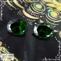 Пара сертифицированных тёмно-зелёных гранатов цаворитов (тсаворитов) из Кении хорошая огранка овал 8,03x6,09 8,03x6,06мм 2,91 карата