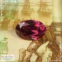 Малиново-розовый родолит из Танзании отличной огранки Баснословно овал 8,25x5,42мм 1,35 карат