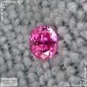 Сертифицированная красно-розовая шпинель (лал) из Танзании (Махенге) хорошая огранка в Баснословно овал 5,91x4,8мм 0,75 карата