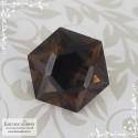 Тёмно-коричневый раухтопаз (дымчатый кварц, раух топаз) из Бразилия отличная огранка Баснословно Звезда Давида (Щит, Маген Давид) 16мм 12,16 карат