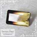 Полихромный раухцит из Бразилии хорошая огранка октагон 29x17,5мм 46.02 карат