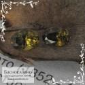 Пара зеленовато-коричневых топазолитов (андрадитов) из России огранка овал 5x3мм 0.63 карата