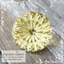 Лимонно-жёлтый цитрин из Бразилии отличной огранки Баснословно фантазийный круг 18мм 20.44 карат