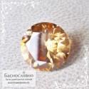 Оранжево-золотистый циркон (гиацинт) из Шри-Ланки хорошая огранка в Баснословно 8мм 2.8 карата