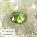 Зелёный демантоид (гранат андрадит) из Мадагаскара огранка 8x6мм 1.53 карат