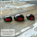 Гарнитур три тёмно-красных граната (альмандин) из Танзании отличная огранка Баснословно овал кабошон пара 13x10 и 15,5x12мм 30.98 карат