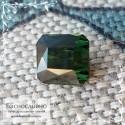 Тёмно-зелёный турмалин (верделит) из Мозамбика огранки октагон 6,15x5,99мм 1.47 карат
