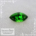 Ярко-зелёный хромтурмалин из Танзании отличной огранки Баснословно маркиз 10,82x5,59мм 1.36 карата