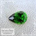 Ярко-зелёный хромтурмалин из Танзании отличной огранки Баснословно груша 7,92x5,37мм 0.77 карата
