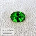 Ярко-зелёный хромтурмалин из Танзании отличной огранки Баснословно овал 7,31x5,3мм 0.76 карата