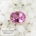 Розовая шпинель из Шри-Ланки огранка овал 7,66x6,05мм 1.47 карат