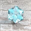 Небесно-голубой Топаз (оттенок Sky blue) из Бразилии отличная огранка Баснословно Звезда Давида (Щит, Маген Давид) 15мм 12.01 карат
