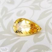 Необлагороженный золотистый топаз империал из Бразилии огранка груша 11,7x7,12мм 2,67 карата (Драгоценный камень)