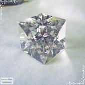 Горный хрусталь (бесцветный кварц) из Бразилии огранка куб Айсберг в Баснословно 18 мм 71,59 карат (Драгоценный камень)