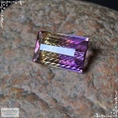 Аметрин из Боливии огранка в Баснословно октагон с насечками 18,02x10,75мм 10,04 карат (Драгоценный камень)