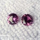 Родолит (гранат) малиновый овал 8x6мм огранка Swarovski (ручное качество Centria) (Драгоценный камень)