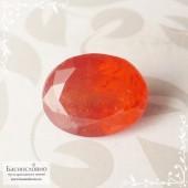 Сертифицированный оранжевый триплит из Пакистана огранки овал 8,11x6,69мм 2,52 карата (Драгоценный камень)