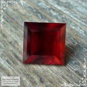 Красный гранат (альмандин) из Африки огранка квадрат октагон 9мм (Драгоценный камень)