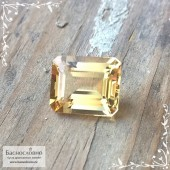 Ярко-жёлтый берилл (гелиодор) из Бразилии огранка октагон 11,01x9,03мм 4.08 карата (Драгоценный камень)