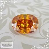Сертифицированный огненно-жёлтый Сфалерит из Испании хорошей огранки овал 11,9x8,62мм 6,22 карат (Драгоценный камень)