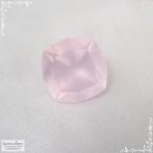 Пастельно-розовый кварц из Бразилии огранка в Баснословно антик 16,01×15,9 мм 16,72 карат (Драгоценный камень)
