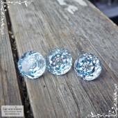 Гарнитур три светло-голубых топаза (оттенок Sky blue) из Нигерии огранки круг Пузырёк 12,29x12,17 12,09x12,03 12,04x11,94мм 24,75 карат (Драгоценный камень)