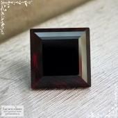 Тёмно-красный гранат альмандин из Замбии отличной огранки Баснословно квадрат 9,97x9,95мм 7,59 карат (Драгоценный камень)