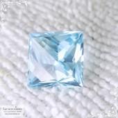Небесно-голубой топаз (оттенок Sky blue) из Нигерии отличная огранка в Баснословно принцесса-фантазия 11,1x10,97мм 8,98 карат (Драгоценный камень)