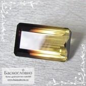 Полихромный раухцит из Бразилии хорошая огранка октагон 29x16мм 37.67 карат (Драгоценный камень)
