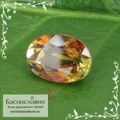 Полихромный андалузит из Шри-Ланки огранка овал 7x5мм 1 карат (Драгоценный камень)