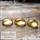 Гарнитур три ярко-жёлтых берилла (Гелиодор) из Бразилии огранка кабошон овал 14x11мм и пара 13x11мм 20.63 карат (Драгоценный камень)