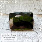 Болотно-зелёный турмалин (верделит) из Бразилии огранка овал 9x7мм 2.11 карата (Драгоценный камень)