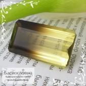 Полихромный раухцит из Бразилии хорошая огранка октагон 32x17мм 47.89 карат (Драгоценный камень)