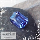 Синий танзанит из Танзании огранка октагон 8,14x6,12мм 1.59 карат (Драгоценный камень)