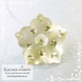 Жёлтый цитрин из Бразилии отличной огранки Баснословно фантазийный цветок 16мм 12.56 карат (Драгоценный камень)