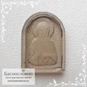 Резная икона святой блаженной Матроны Московской на дымчатом кварце (раухтопаз) работы в Баснословно 16x12мм (Драгоценный камень)
