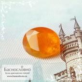 Оранжевый огненный опал из Эфиопии огранка овал 9,91x7,94 1.68 карата (Драгоценный камень)
