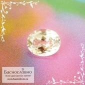 Диаспор (султанит, зултанит, танатарит, цсарит) из Турции со сменой цвета (александритовый эффект) огранка овал 7x5,5мм 1.12 карат (Драгоценный камень)