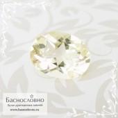 Бледно-жёлтый олигоклаз (полевой шпат) из Шри-Ланки огранка овал 12,47x9,48мм 3.97 карат (Драгоценный камень)