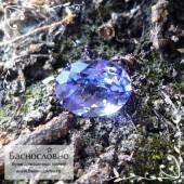 Синий танзанит из Танзании огранка овал 7,93x5,99мм 1.27 карат (Драгоценный камень)