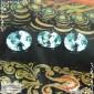 Гарнитур три бирюзовых циркона (старлита) из Камбоджи отличная огранка Баснословно овал 9,07x6,04 8,86x7,04 8,9x6,97мм 6,73 карат