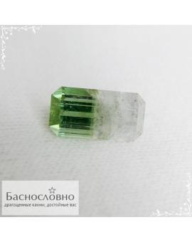 Сертифицированный полихромный мятный-бесцветный турмалин из Афганистана огранка Баснословно октагон 12,7×6,65мм 4,54 карата (Драгоценный камень)