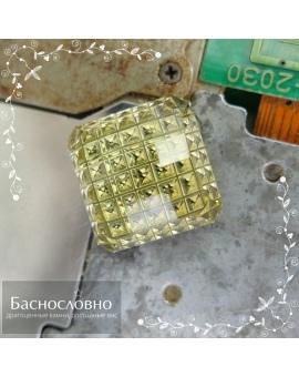 Натуральный лимонный кварц из Бразилии огранки Процессор 15,01x14,85мм 13,79 карат (Драгоценный камень)