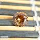 Натуральный оранжево-золотистый циркон (гиацинт) из Шри-Ланки огранка 8,15×8,01мм 3,00 карата (драгоценный камень)