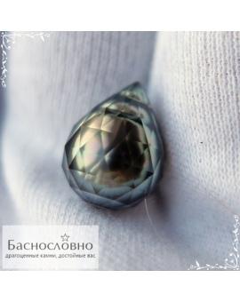 Натуральный огранённый чёрный жемчуг с Таити огранка в Баснословно 14,66х11,09мм 10,59 карат (драгоценный камень)