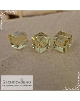Гарнитур три натуральных цитрина из Бразилии огранки в Баснословно куб 7,5 мм 15 карат (Драгоценный камень)